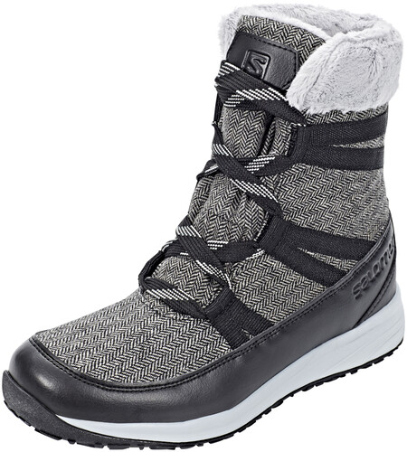 Salomon Heika CS WP Winter Boots Women Black/Quarry/Alloy 38 2017 Freizeitstiefel kAv03uPNp